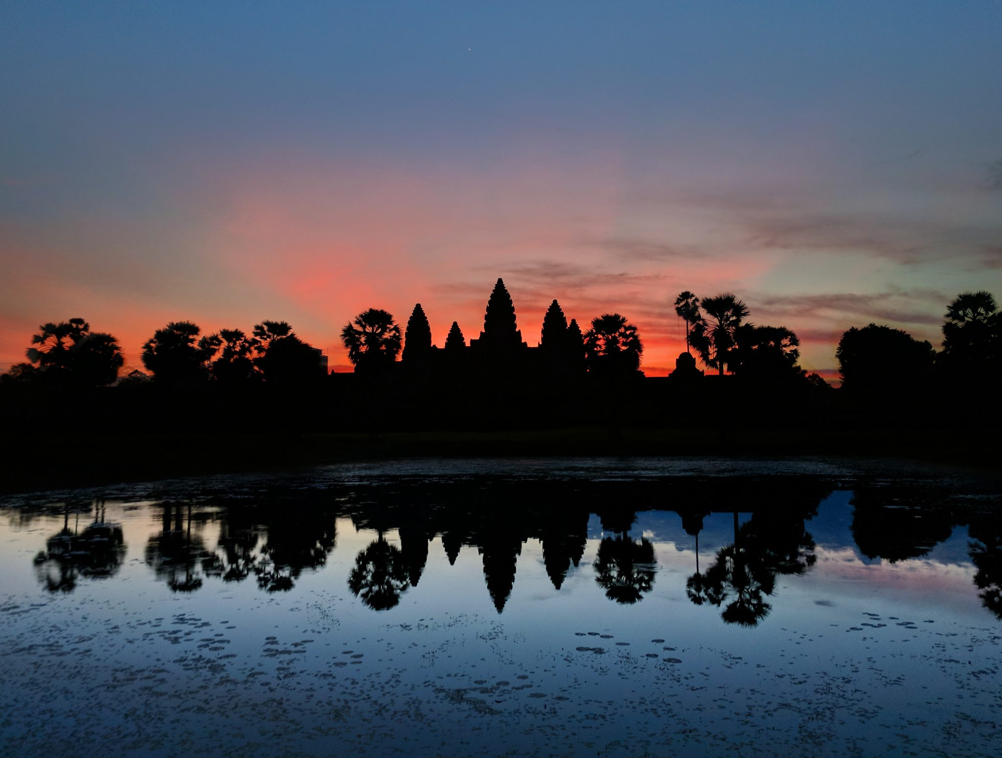 Artistic photo of Angkor Wat