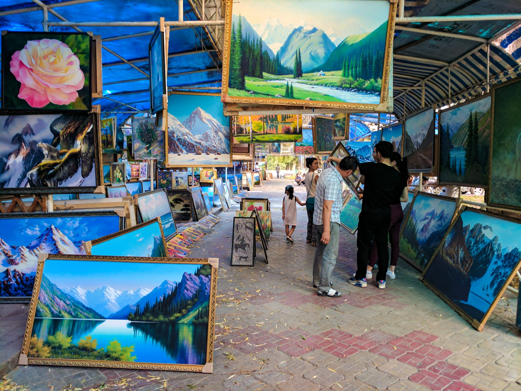Painting Market in Bishkek