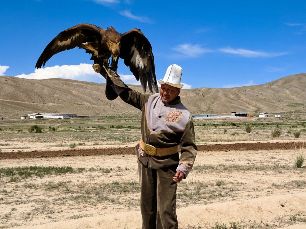 Eagle trainer from Kyrgyzstan