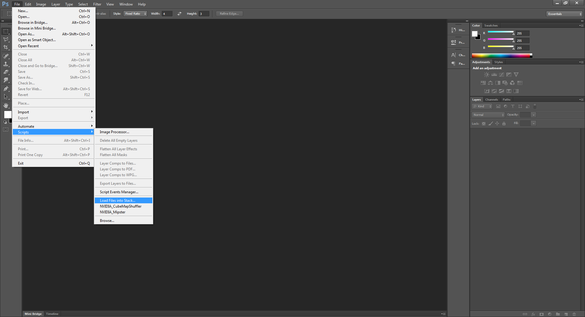 Loading a batch of pictures into different layers