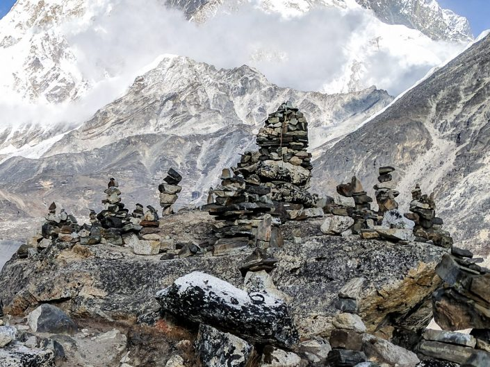 Everest Trek Lobuche Rocks