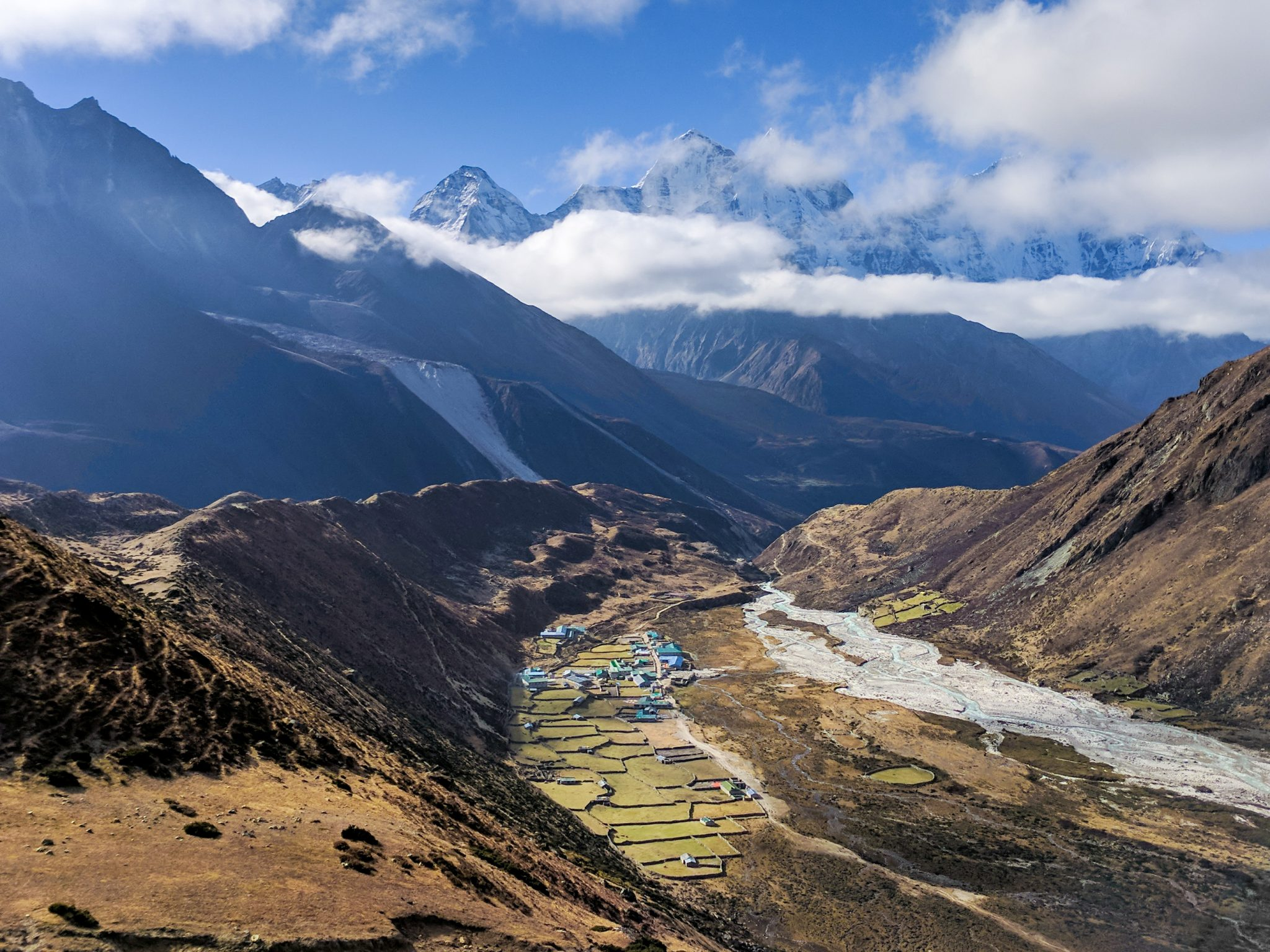 Everest Trek Pheriche View