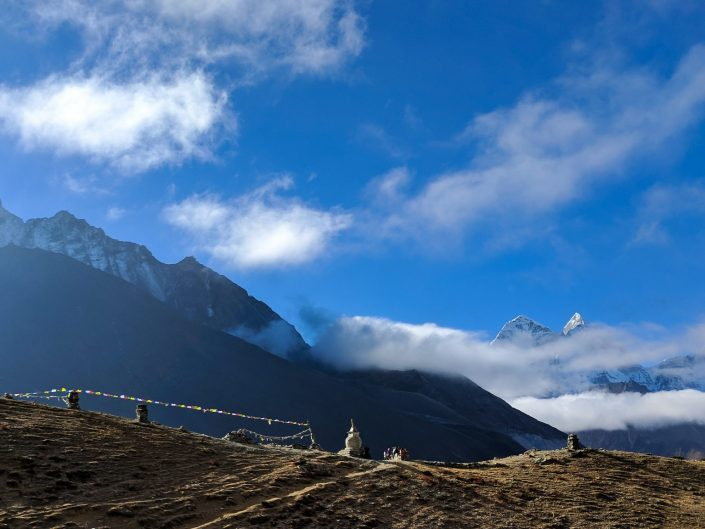 Everest Trek Stupa Shot