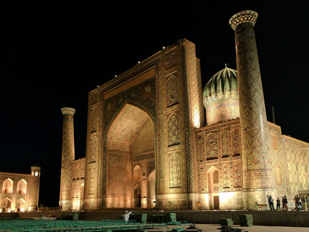 Registan at night