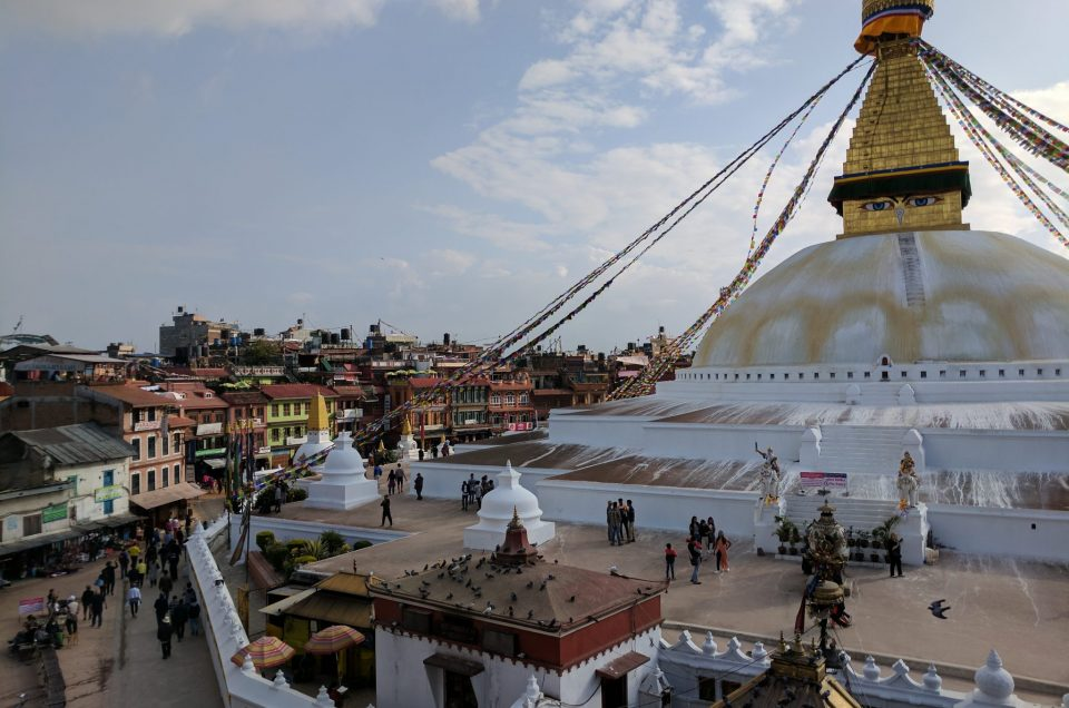 Boudhanath Stupa, one of the biggest ones in the World