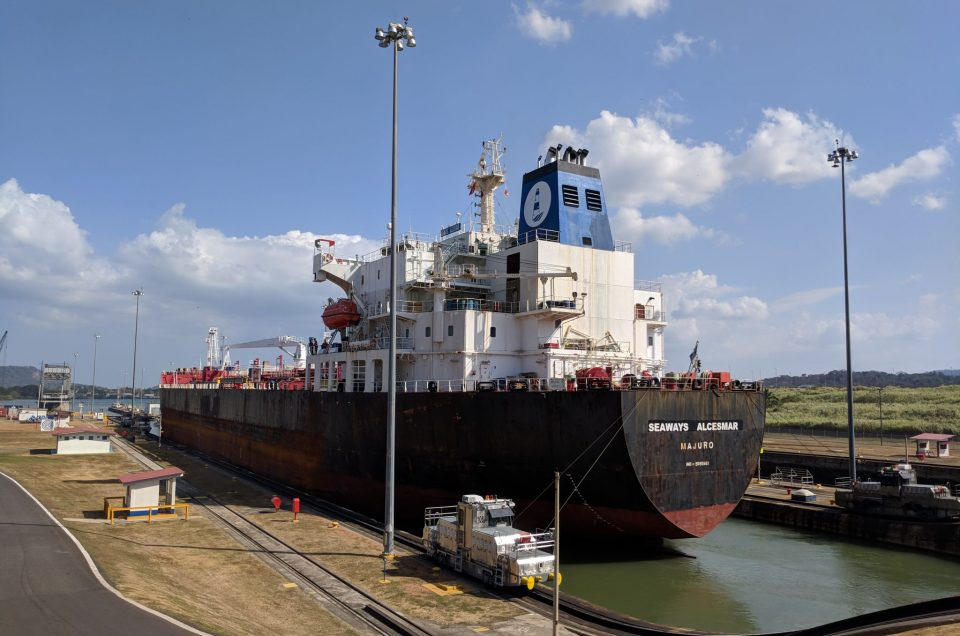 Ship after crossing the Panama Canal