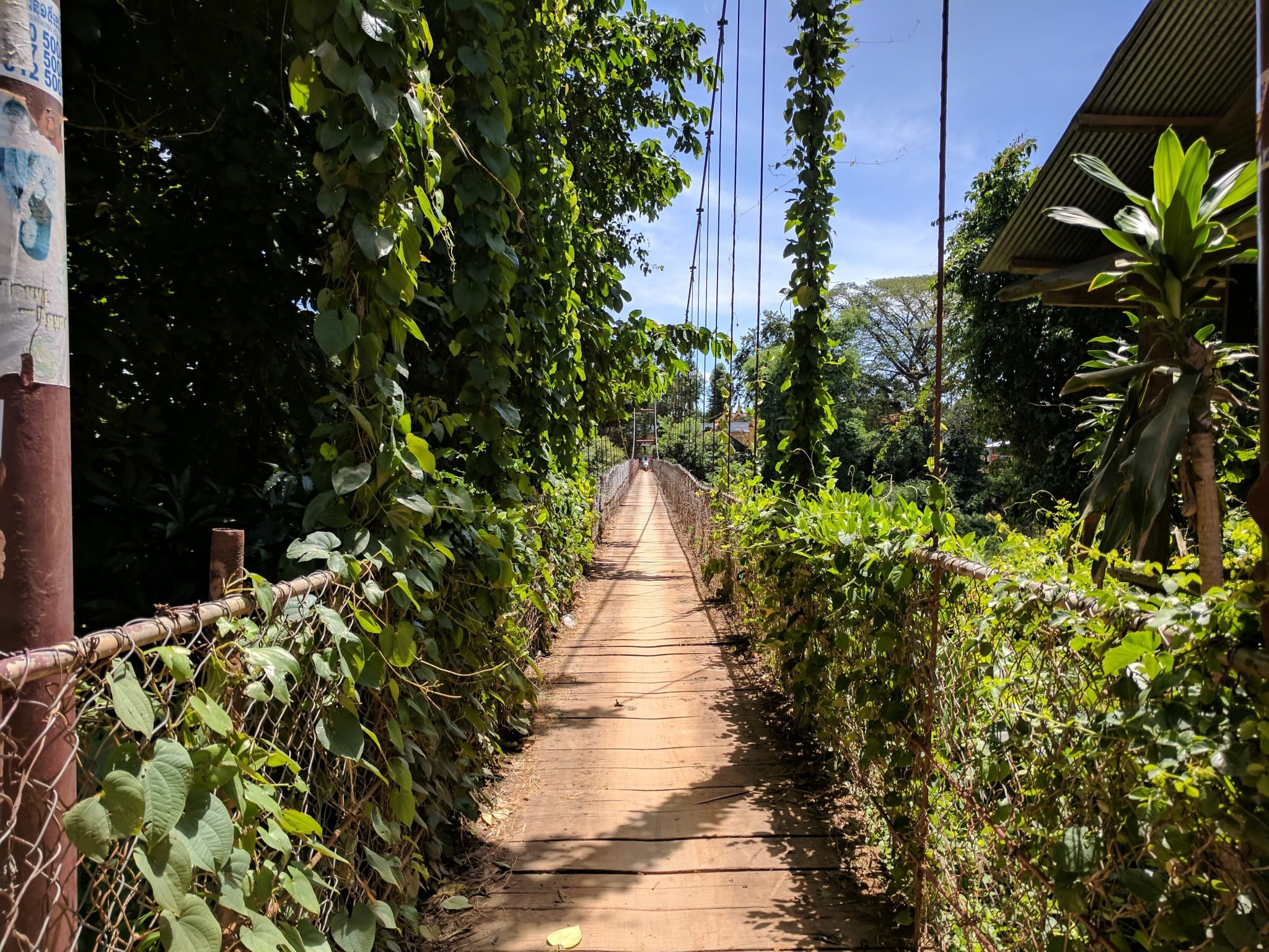 Swinging bridge in Battambang