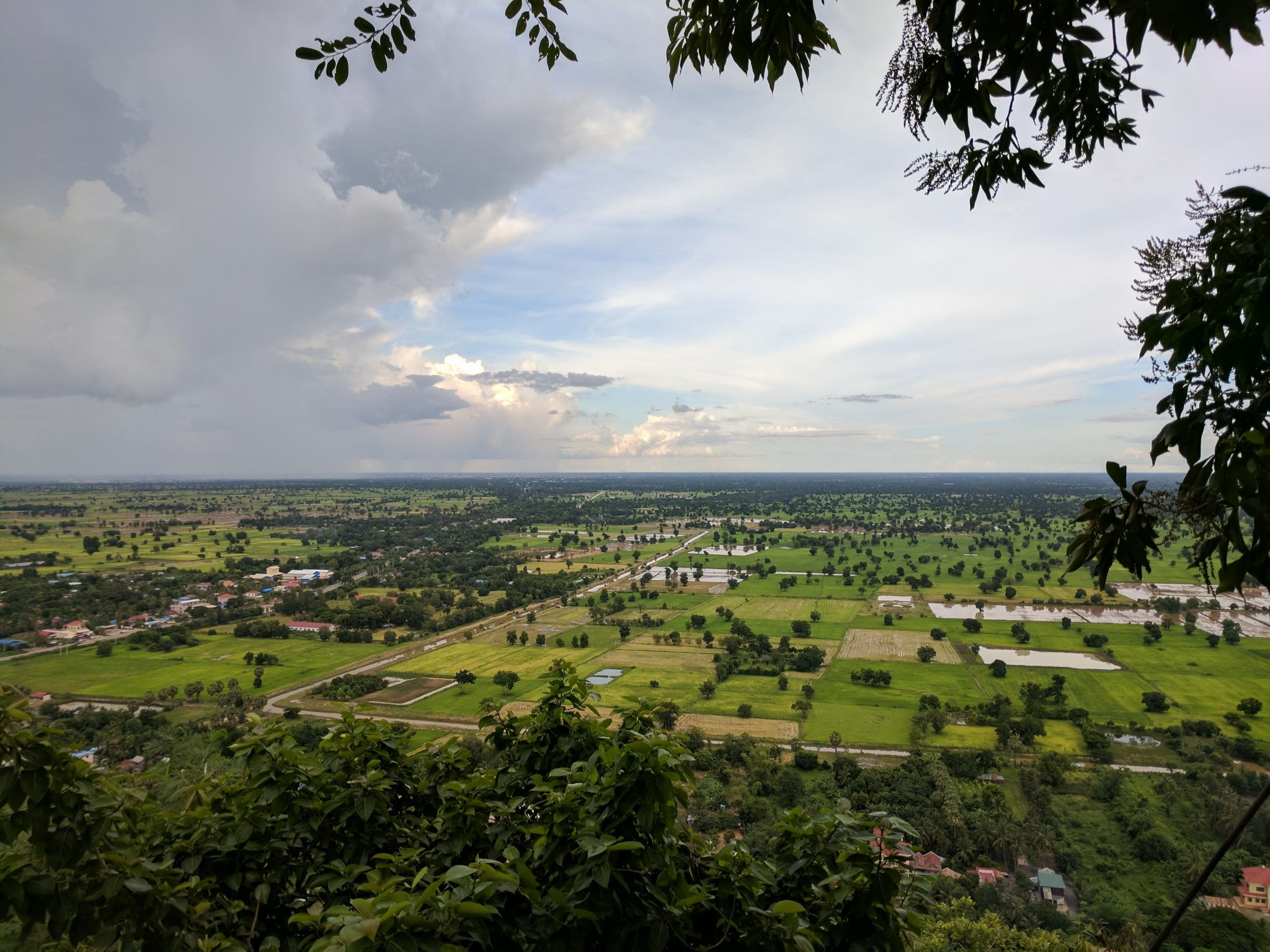 View from the top of the mountain Killing Caves BAttambang